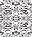 Black seamless ornamental wallpaper Royalty Free Stock Images