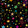 Black seamless pattern with stars Stock Photos