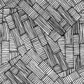 Black seamless rectangles line pattern Royalty Free Stock Photo