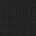 Black seamless royal background vector illustration Stock Images