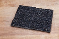 Black sesame seed honey bar Royalty Free Stock Photo