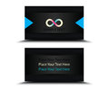 Black shine business card template abstract background with logo front and back Royalty Free Stock Photography