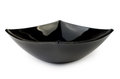 Black shiny glass salad bowl isolated on white background Stock Image
