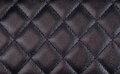 Black shiny quilted leather background Stock Image