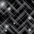 Black shiny vector pattern with crossed lines Stock Photos