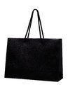 Black shopping bag isolate on white background. Royalty Free Stock Photo