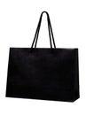 Black shopping bag isolate on white background. Royalty Free Stock Photo