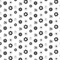 Black and silver shade mix flower styles pattern background