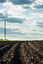 Black soil plowed field