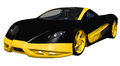 Black sports toy car Royalty Free Stock Image