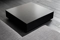 Black square coffee-table Royalty Free Stock Image