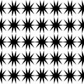 Black star pattern seamless Royalty Free Stock Photo