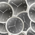 Black steel modern clock Royalty Free Stock Photography
