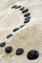Černý posílení kameny