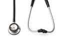 Black stethoscope on a white background with clipping path Stock Photos