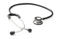 Black stethoscope on a white background horizontal Stock Image