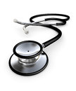 Black stethoscope on white d render Stock Images