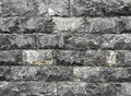Black stone wall Royalty Free Stock Images