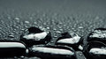 Black stones with water drops Stock Photography