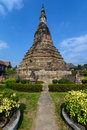 Black stupa in vientine laos that dam thanon bartholomie the mythical abode of a seven headed dragon that protects vientiane Royalty Free Stock Image