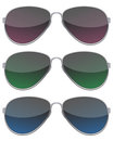 Black Sunglasses Set Royalty Free Stock Photo
