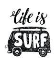 Black surfing badge