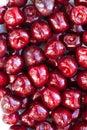 Black sweet cherries. Closeup sweet cherries. Closeup Royalty Free Stock Photo