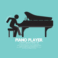 Black Symbol Piano Player