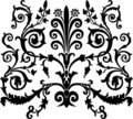 Black symmetric curls Stock Images