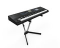 Black synthesizer isolated on white background d render Royalty Free Stock Photo