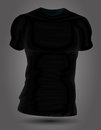 Black t shirt vector illsutation background Royalty Free Stock Photography