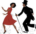 Black tap dance performers Royalty Free Stock Photo