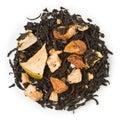 Black tea apple kiwi blend raw isolated on pure white Stock Images