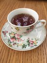 Black tea in a classic Fine China cup Royalty Free Stock Photo