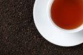 Black Tea with copy space Royalty Free Stock Photography