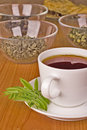 Black tea with herbs Stock Photography