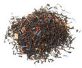 Black tea scented with fruits and flowers Stock Photo