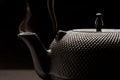 Black teapot. Royalty Free Stock Photo