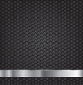 Black technology background hexagon metal grill texture Stock Images
