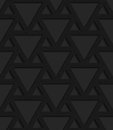 Black textured plastic triangles grid Royalty Free Stock Photo