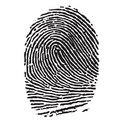 Black Thumbprint Stock Photos