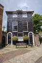 Black Tiled Georgian House at Lewes Castle Royalty Free Stock Photo