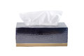 Black tissue box isolated on white background. An image of a nap Royalty Free Stock Photo