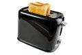 Black toaster with bread slices isolated on white Stock Photography