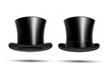 Black top hats Royalty Free Stock Photo