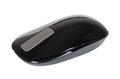 Black touch wireless modern computer mouse isolated Royalty Free Stock Photo