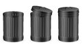 Black trash can set on white background Stock Images