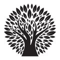Black Tree Logo silhouette