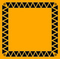 Black tribal border tile Stock Images