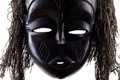 Black tribal face mask on white Royalty Free Stock Photography